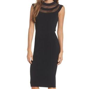 Eliza J - Mesh Body-con Dress - Petite Small